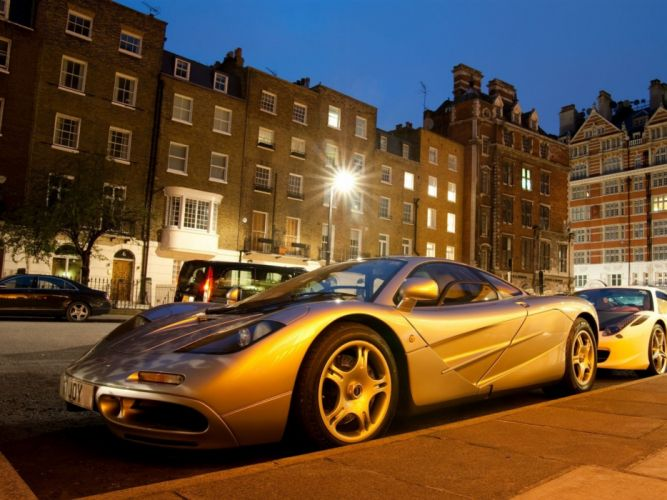 cityscapes streets cars vehicles McLaren F1 citylights wallpaper
