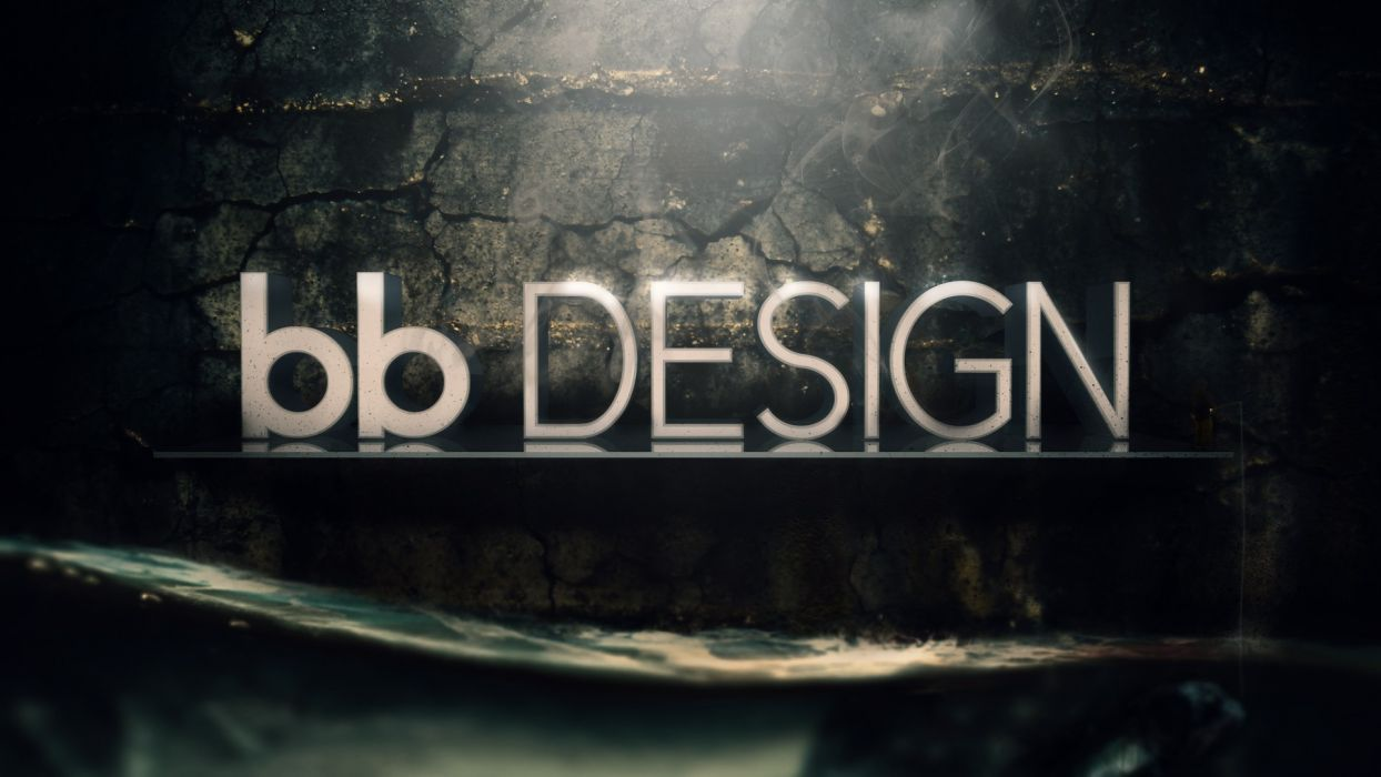 text cinema 4d photo manipulation logo design Budai BAIAAlint wallpaper