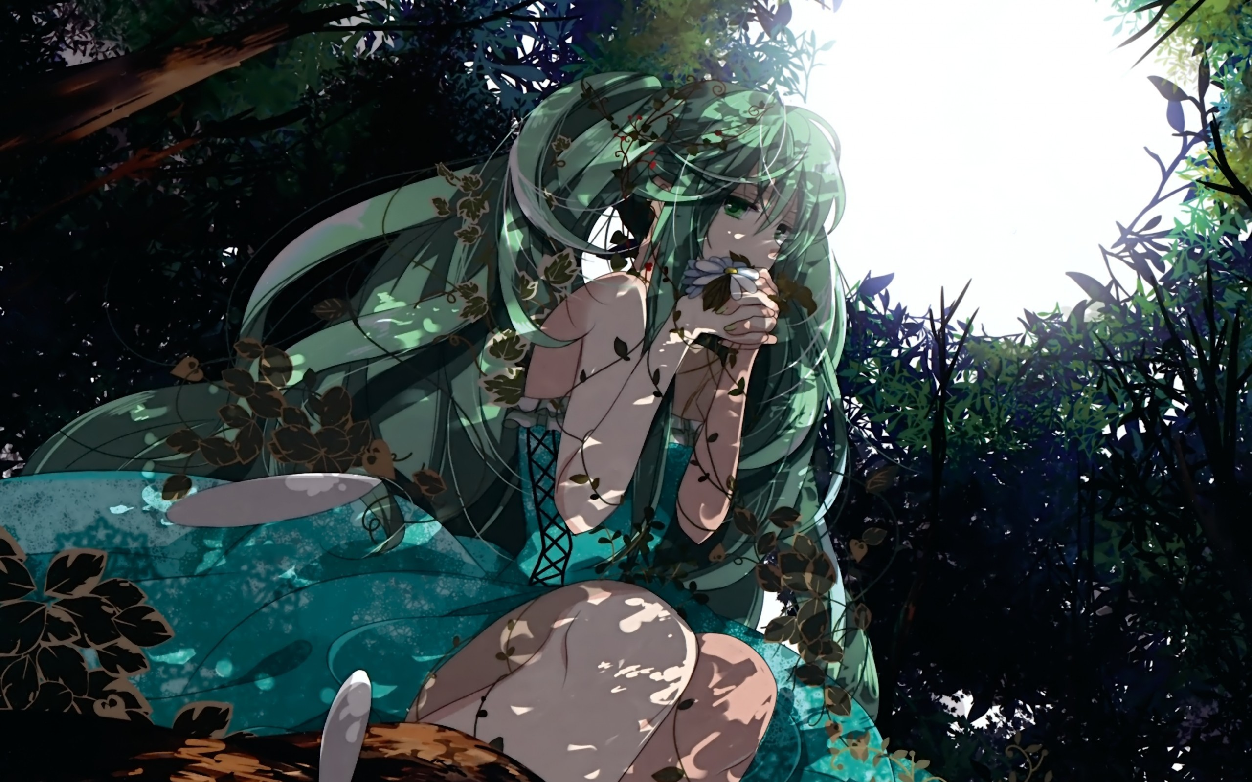 anime rain green wallpaper - photo #47