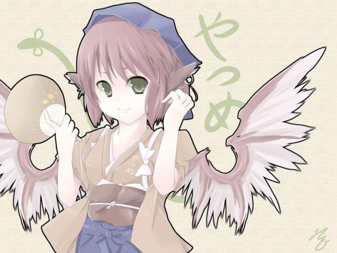 Touhou wings animal ears Mystia Lorelei Japanese clothes wallpaper
