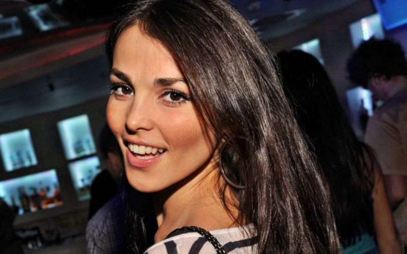 brunettes women faces Sati Kazanova wallpaper