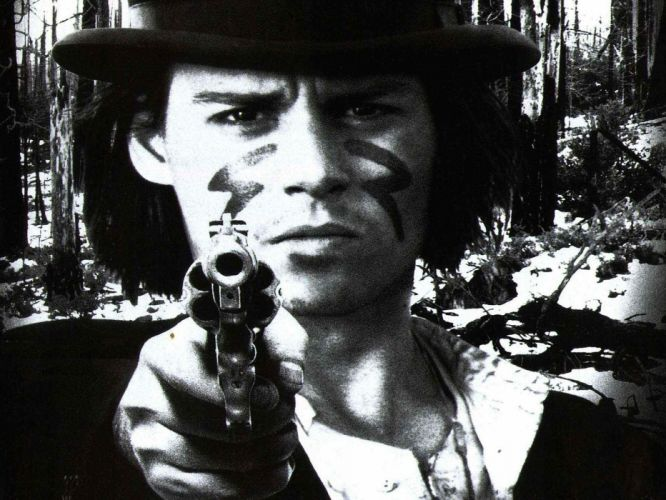 black and white trees movies forests revolvers film Johnny Depp monochrome hats Dead Man faces Dead Man (Movie) firearms wallpaper