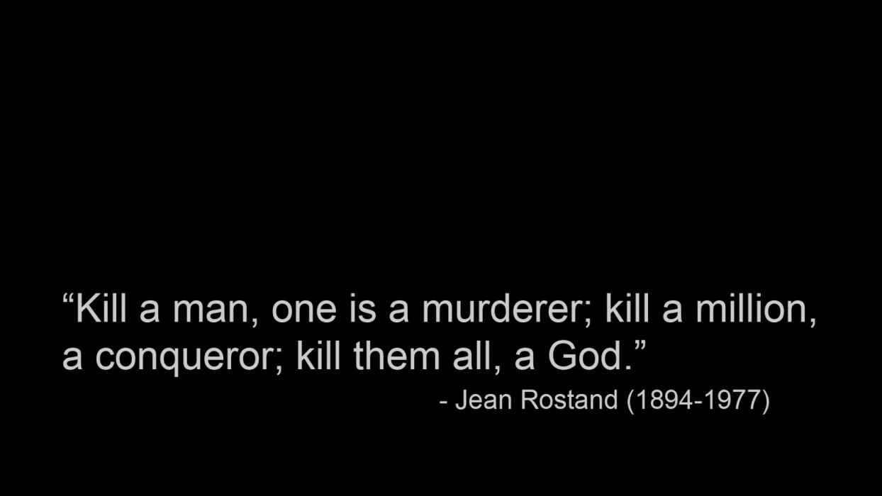 text quotes black background Jean Rostand wallpaper