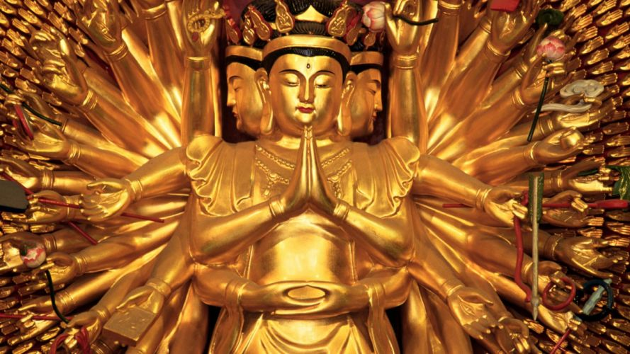 China Shanghai travel Buddhist temples wallpaper