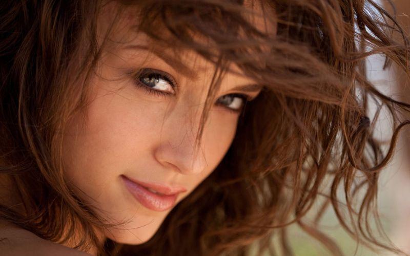 brunettes women Malena Morgan faces wallpaper