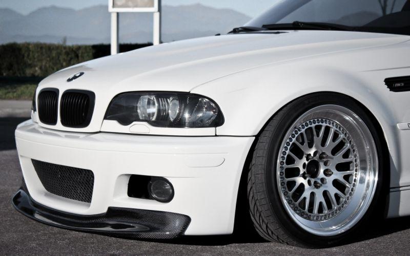 BMW white cars vehicles tuning wheels BMW M3 sports cars BMW E46 luxury sport cars wallpaper