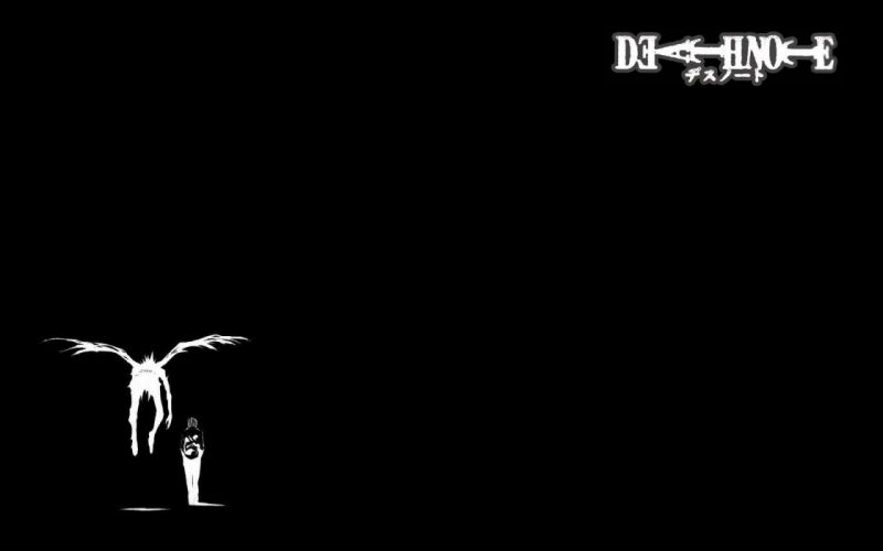 Death Note light wings Ryuk Yagami Light simple background wallpaper