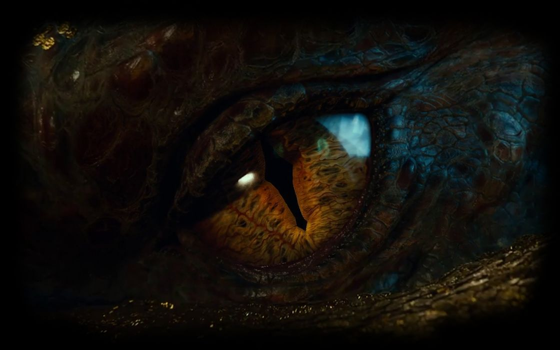 eyes dragons The Hobbit Smaug The Lord of the Rings: The Battle for Middle-earth II wallpaper