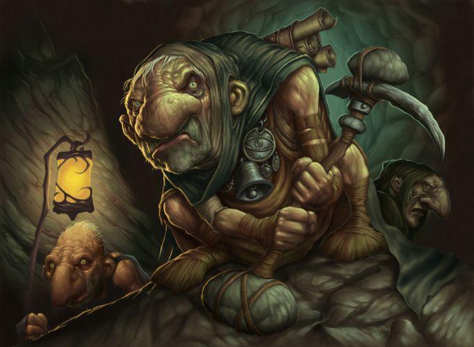 Magic Gathering Gnome Cave fantasy f wallpaper