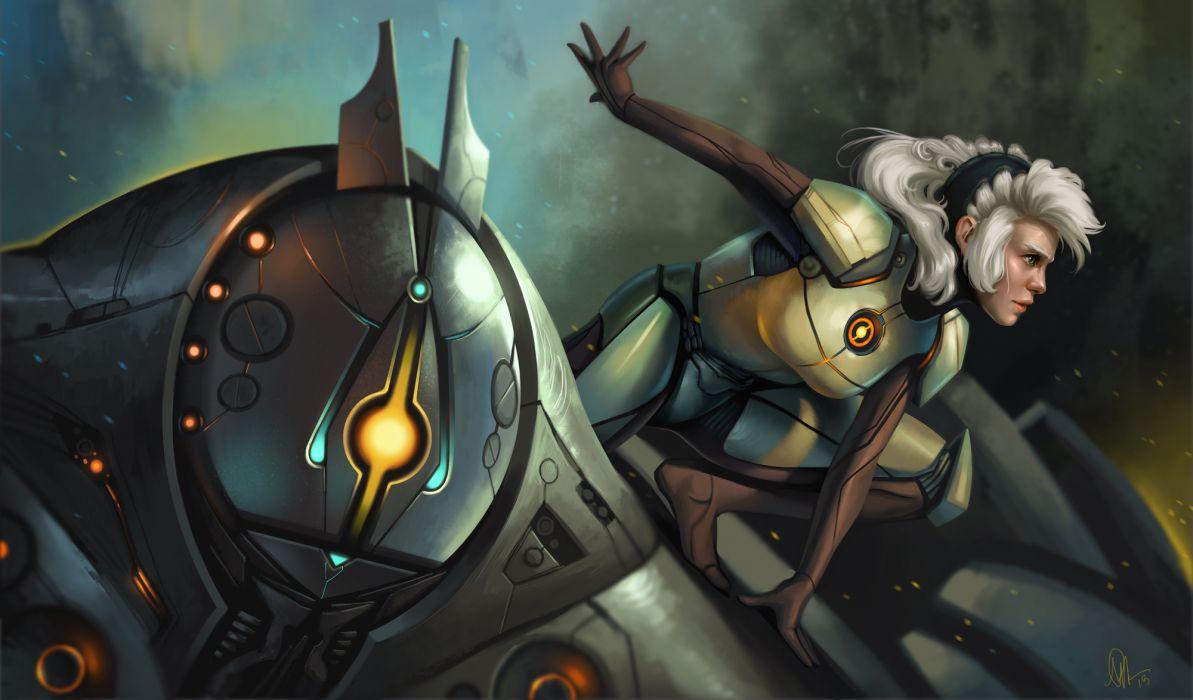 Technics Robot Girls cyborg      f wallpaper