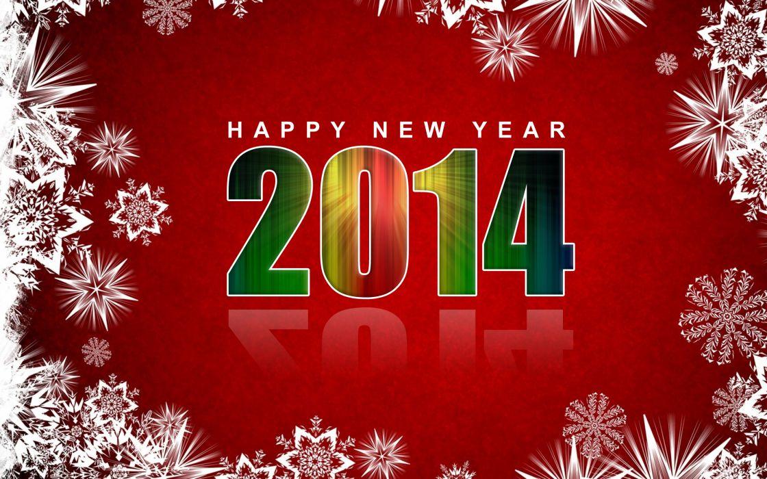 Holidays Christmas ( New year ) 2014 Snowflakes wallpaper