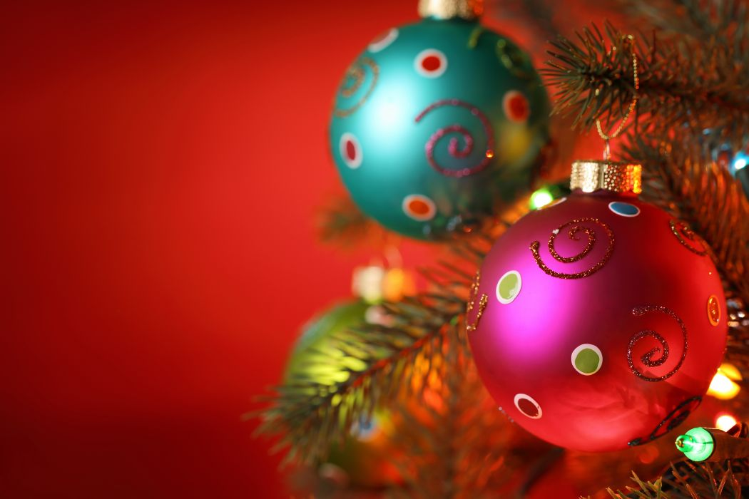 Holidays Christmas ( New year ) Balls wallpaper