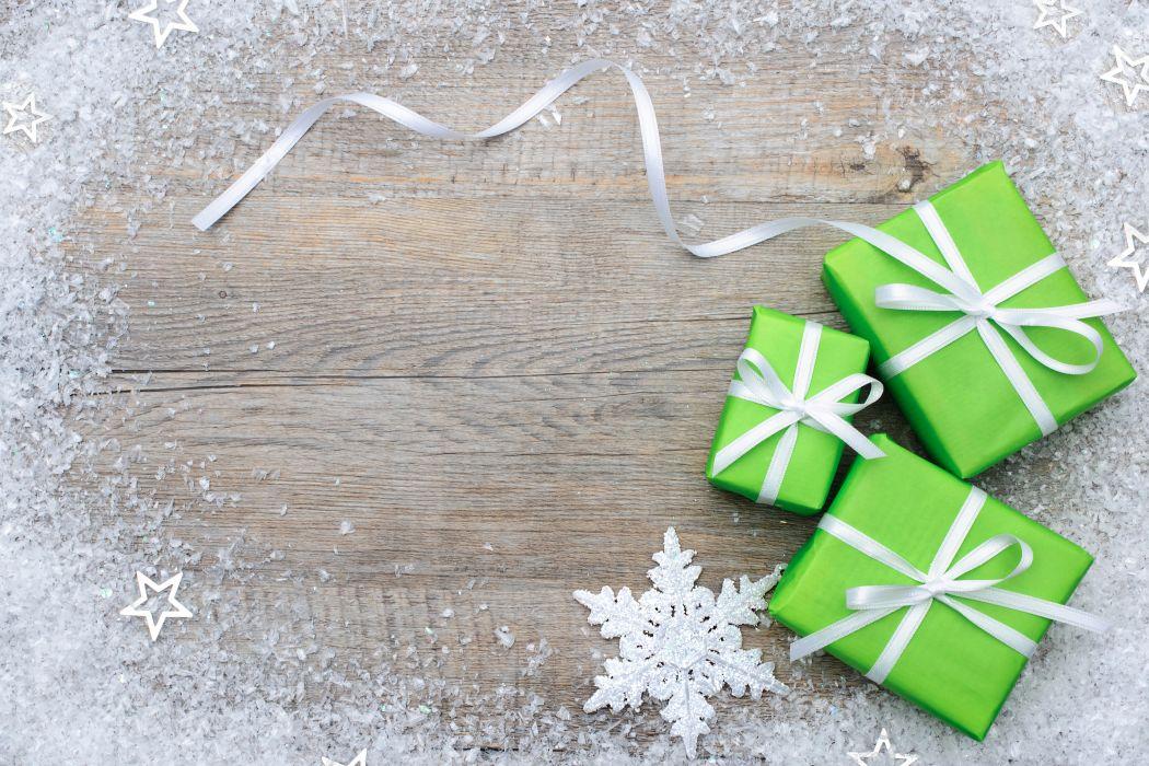 Holidays Christmas ( New year ) Gifts Snowflakes Ribbon Bowknot wallpaper