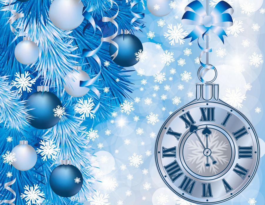 Holidays Christmas ( New year ) Clock Balls wallpaper