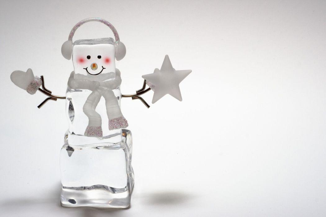 Holidays Christmas ( New year ) Snowmen Ice Headphones wallpaper