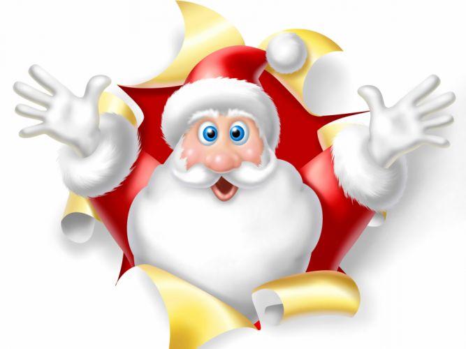 Holidays Christmas ( New year ) Santa Claus Winter hat wallpaper