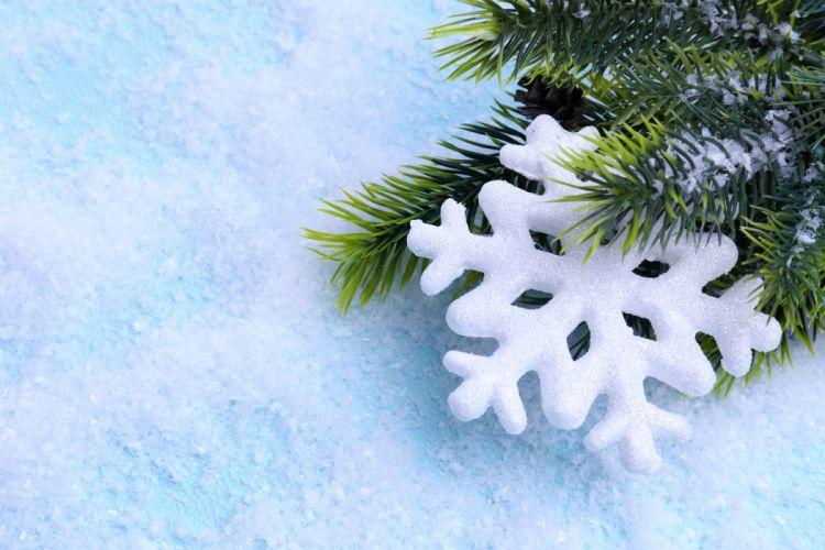 Holidays Christmas Snowflakes wallpaper