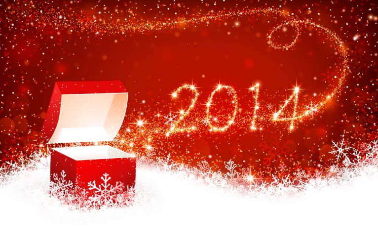Holidays Christmas ( New year ) Vector Graphics 2014 wallpaper