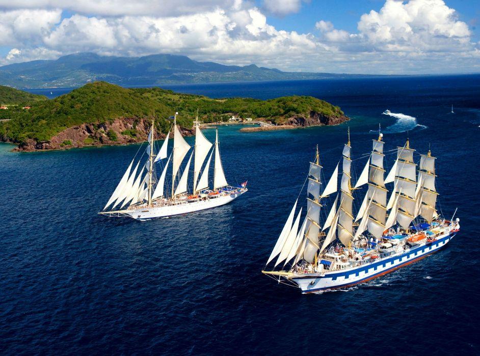 Sailing Ships Clouds boat ship      dd wallpaper