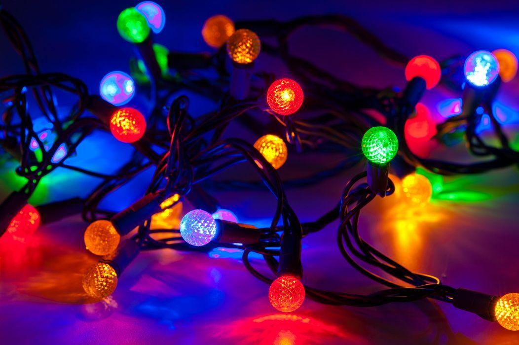 Christmas lights bokeh        g wallpaper