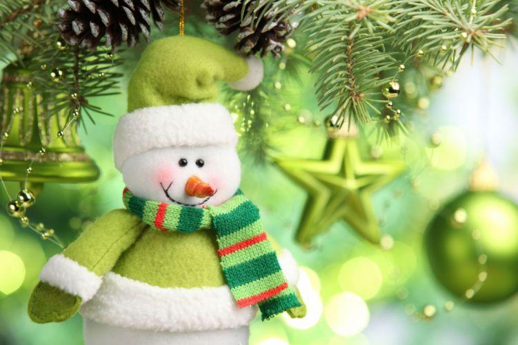 Holidays Christmas ( New year ) Toys Snowmen wallpaper