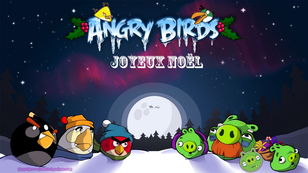 Joyeux Noel angry birds      f wallpaper