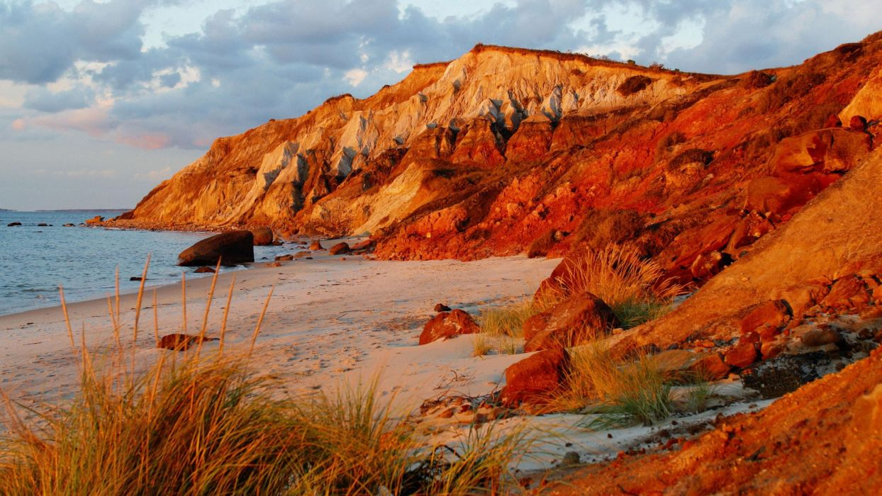 Nature Head Cliffs Vineyard Massachusetts Beaches Wallpaper