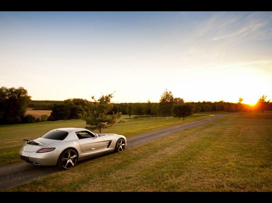 sunset AMG static Mercedes Benz mercedes benz sls wallpaper