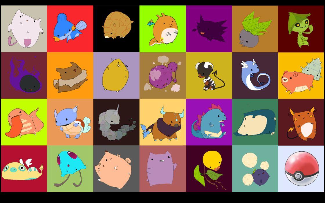 Pokemon Poke Balls Mudkip Wartortle Haunter Slowbro Mewtwo Eevee Snorlax Raichu Gastly Lickitung Bellsprout Sandshrew Onix houndour Weezing Oddish Tentacool  Tauros Pokeball dunsparce wallpaper