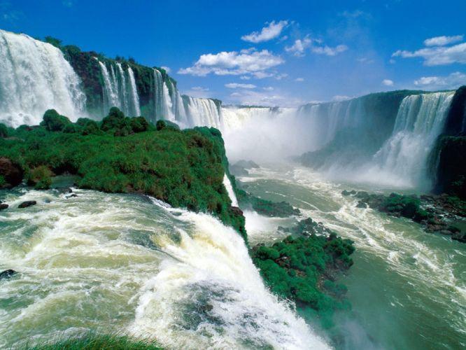 nature Brazil waterfalls Iguazu falls wallpaper