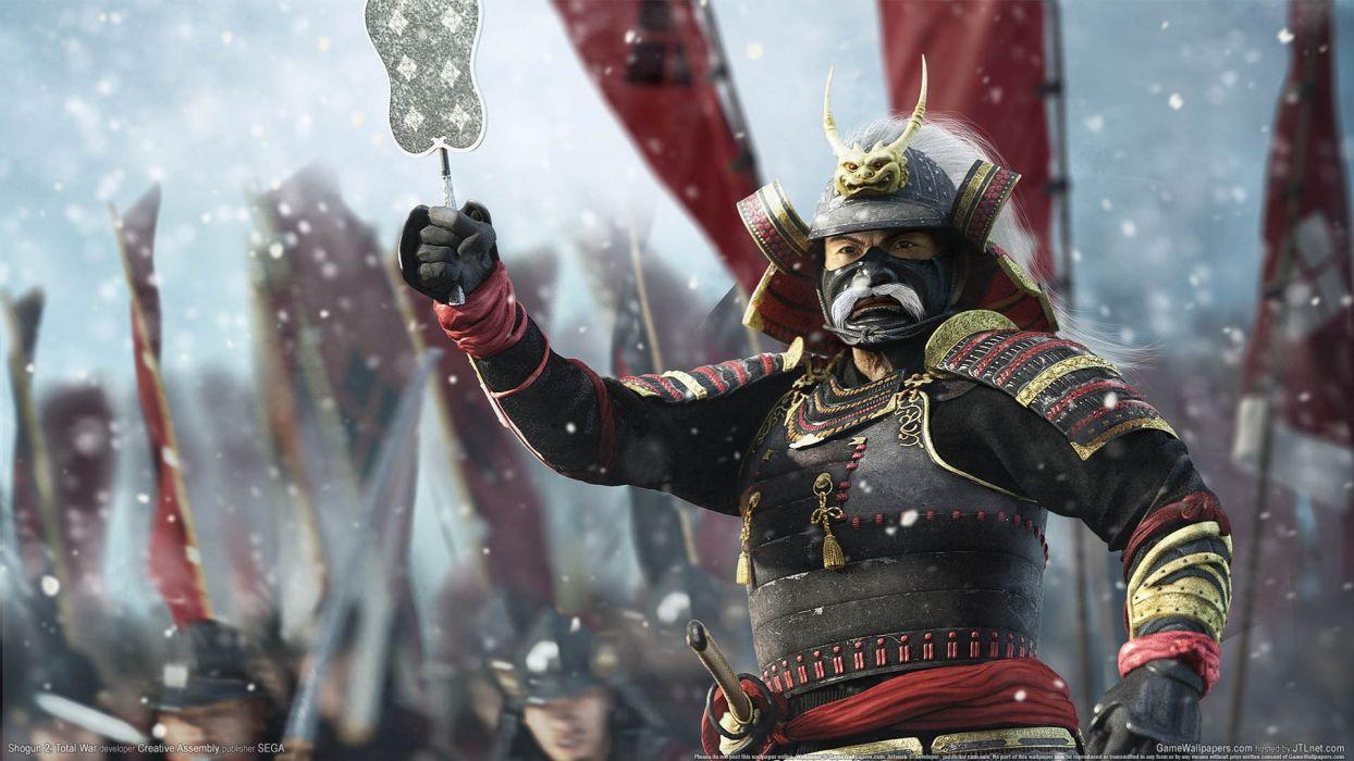 video games samurai Shogun 2 realistic wallpaper