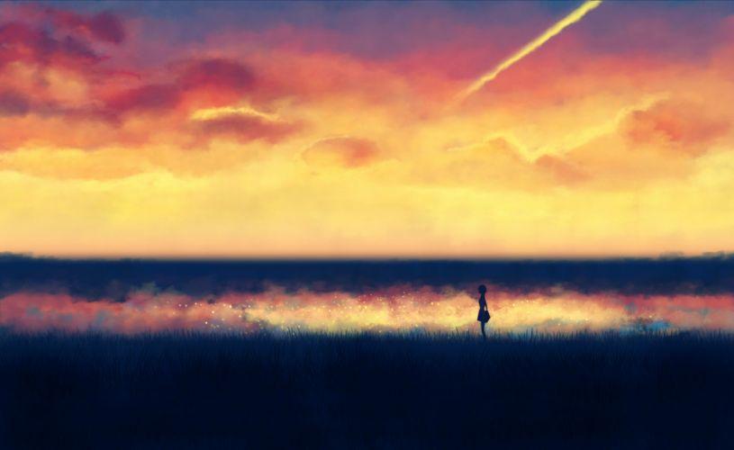 illustrations fantasy art lonely backgrounds anime wallpaper