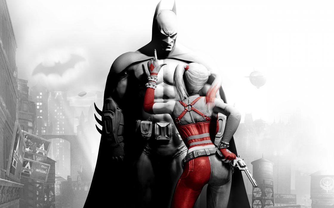 Batman Harley Quinn Batman Arkham City wallpaper