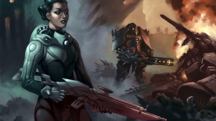 artwork sci-fi upscaled wallpaper