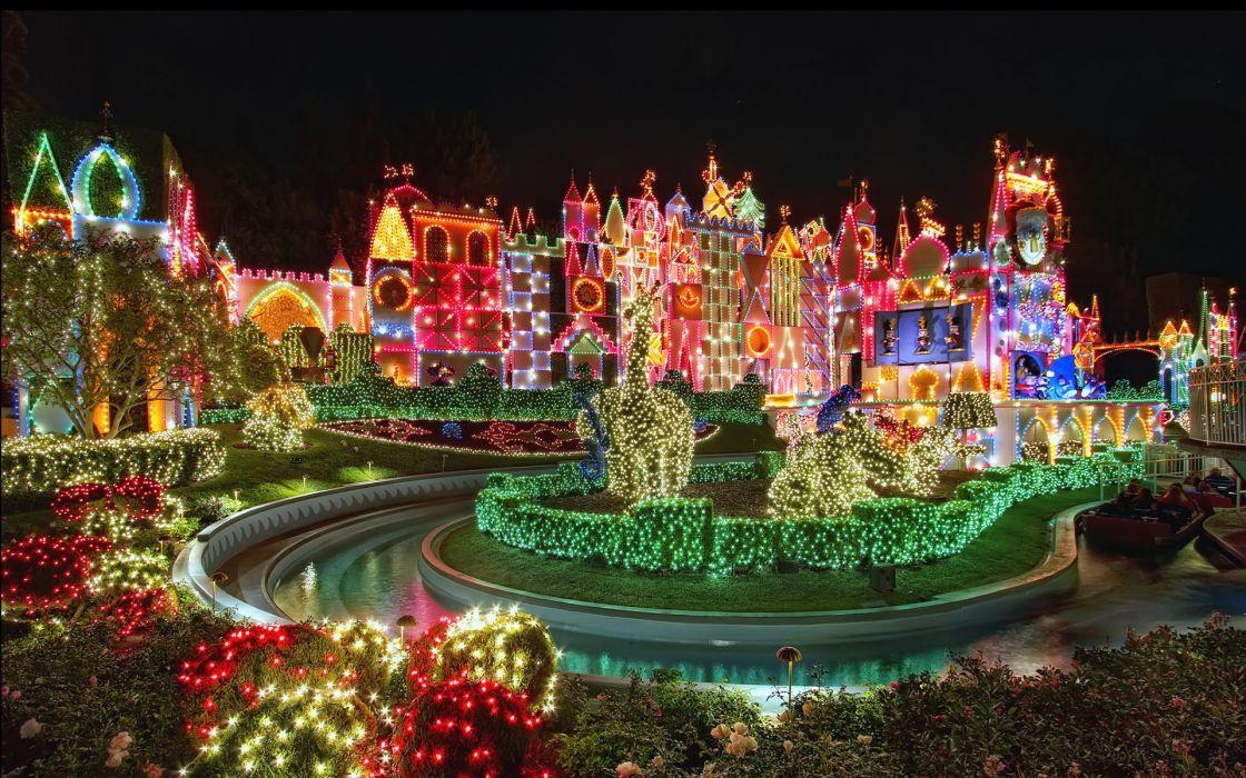 light Christmas amusement park wallpaper