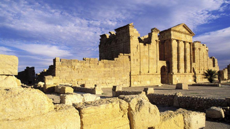 ruins Jupiter temples Roman wallpaper