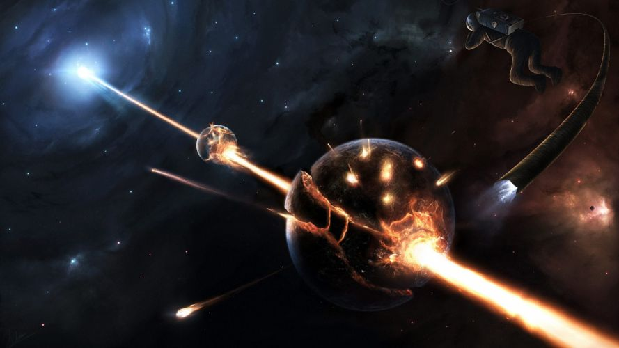 outer space planets science fiction artwork space wallpaper