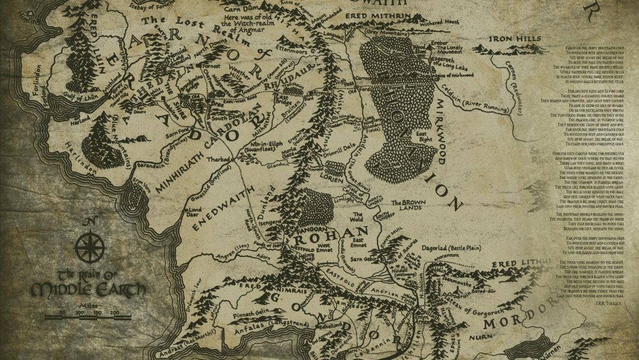 fantasy movies text old The Lord of the Rings books maps Mordor Middle-earth Rohan The Lord of the Rings: The Battle for Middle-earth II wallpaper