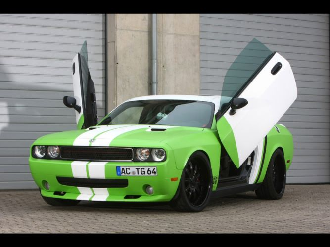 muscle cars front Dodge Challenger SRT automotive Dodge Challenger SRT8 open doors wallpaper