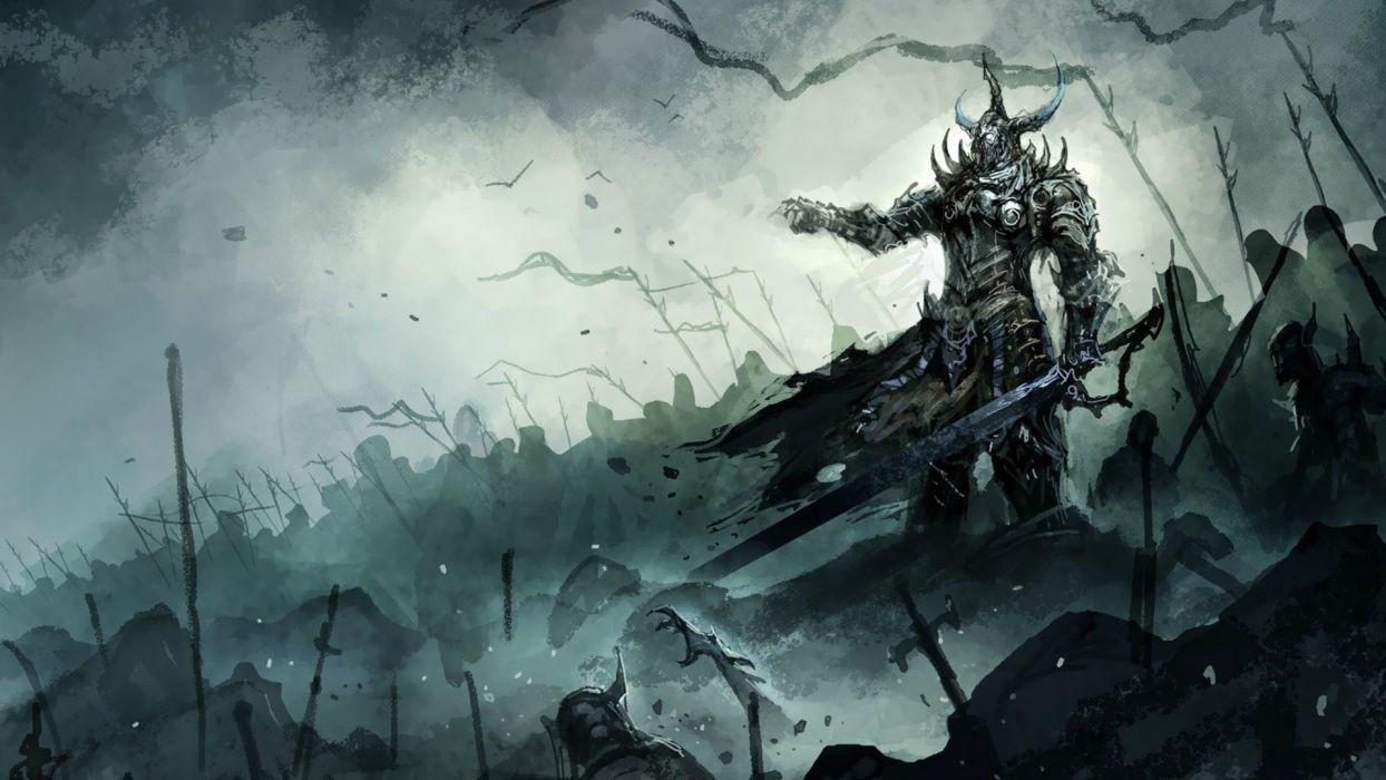knights fantasy art swords wallpaper
