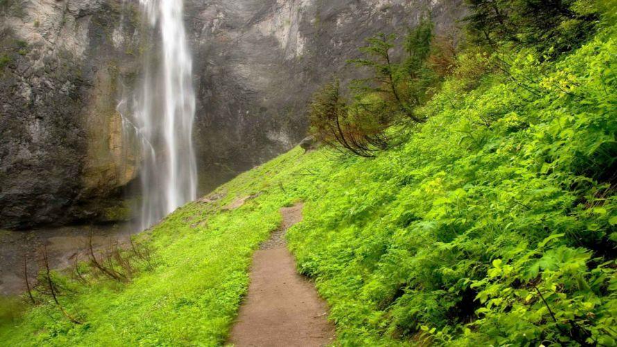 comet falls National Park Washington Mount wallpaper