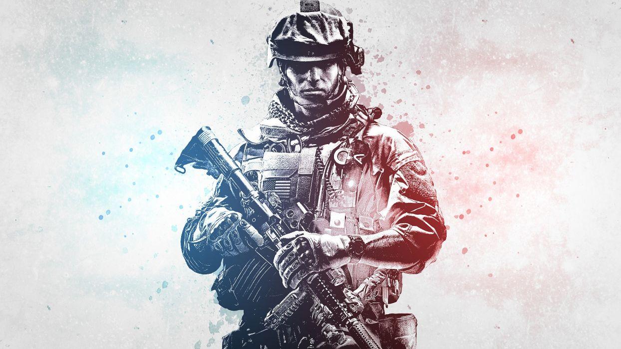 soldiers video games war guns weapons eotech Battlefield 3 arms wallpaper