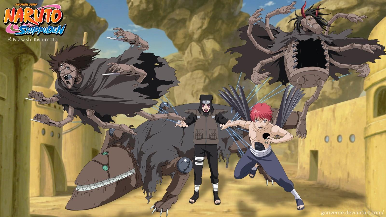 Naruto: Shippuden Sasori Kankuro puppet Suna wallpaper ...
