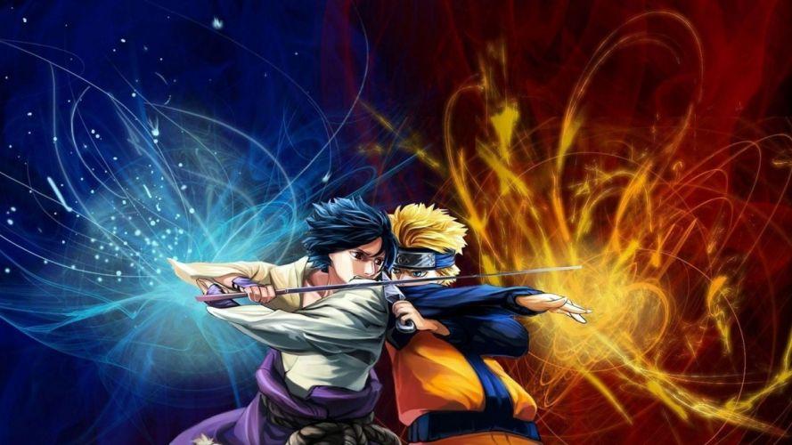 fighting Uchiha Sasuke Naruto: Shippuden Uzumaki Naruto wallpaper