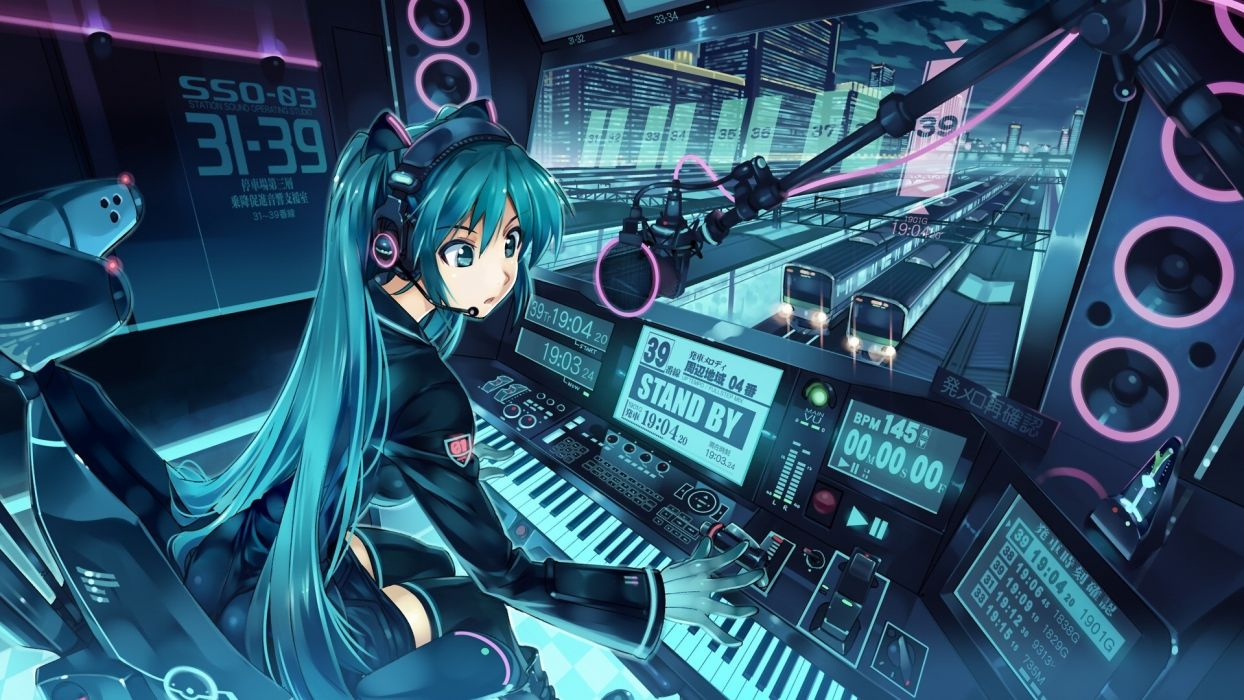 Vocaloid Hatsune Miku anime DJ  Vania600 wallpaper