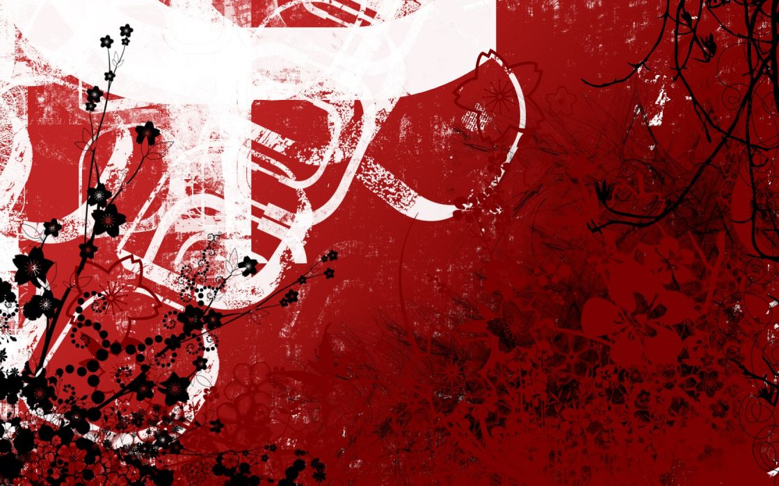 abstract red artistic wallpaper