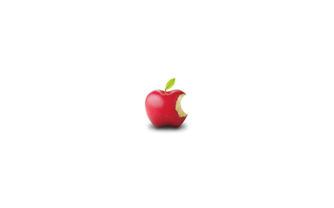 Apple Inc_ Mac logos white background wallpaper