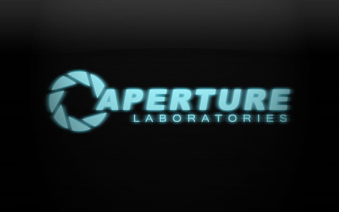 Aperture Laboratories logos wallpaper