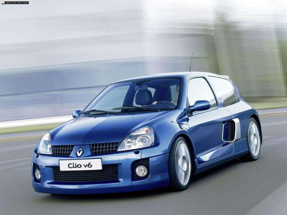 cars vehicles Renault Clio Renault sports cars Renault Clio V6 wallpaper