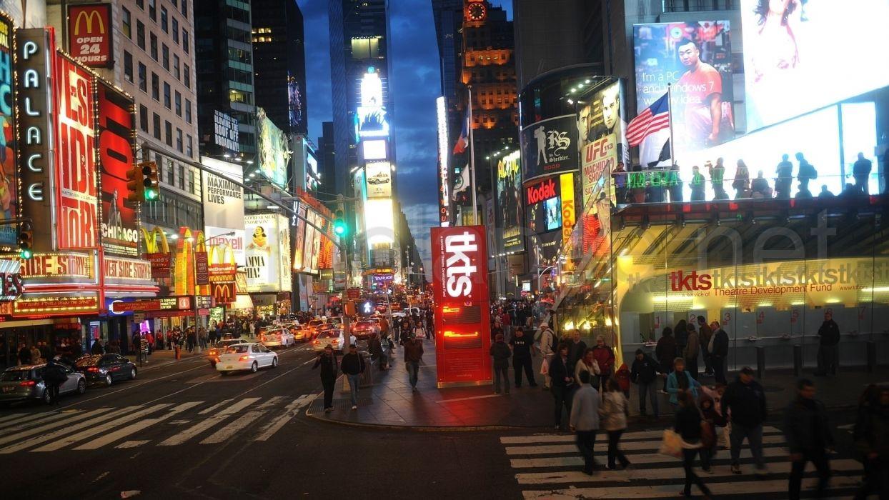 multicolor New York City Times Square wallpaper